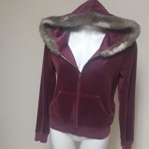 Juicy Contour purple hoodie